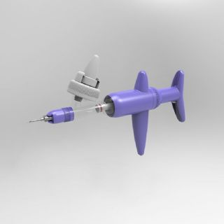 Simcro Compact Purple 2ml Variable Dose Bottle Mounted Injector c/w 20mm Cap Adaptor